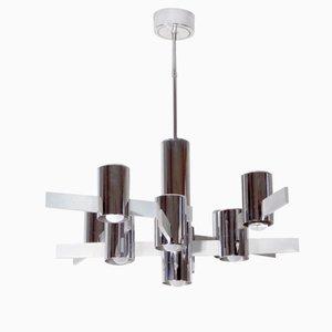 Deckenlampe aus Aluminium von Gaetano Sciolari