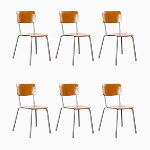 Mid-Century Stacking Dining Chairs Pagholz from Berl & Cie, 1960s, Set of 6