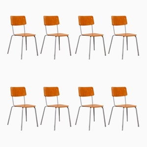 Mid-Century Stacking Dining Chairs Pagholz from Berl & Cie, 1960s, Set of 8