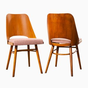 Upholstered Dining Chairs by Radomir Hoffman for Ton, 1950s, Set of 2