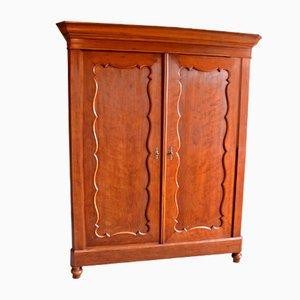 Large Antique Biedermeier Mahogany Cabinet