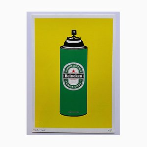 Death NYC, Heineken Spray, 2015, Silkscreen Print