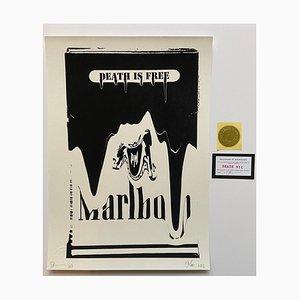 Death NYC, Death Is Free Marlboro, 2017, Silkscreen Print