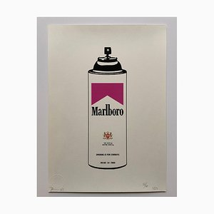 Death NYC, Marlboro Pink Spray, 2015, Silkscreen Print