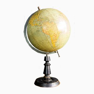 Vintage Globe on High Stand