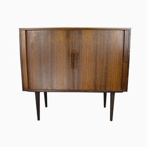 Brazilian Rosewood Cabinet With Tambour Doors by Kai Kristiansen for Feldballes Møbelfabrik