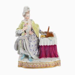 Saxon Porcelain Elegant in Front of Her Mirror