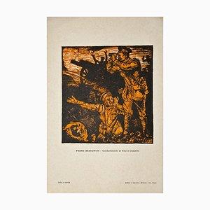 Frank Brangwyn - Schlacht von Neuwe Chapelle - Original Holzschnitt von Frank Brangwyn - 20. Jahrhundert