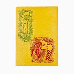 Mino Maccari - Woman - Original Holzschnitt von Mino Maccari - Mid-20th Century