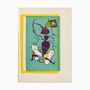 Mino Maccari - the Creatures - Original Holzschnitt von Mino Maccari - Mid-20th Century