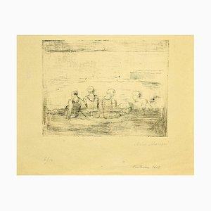 Mino Maccari - Figures - Original Etching On Paper by Mino Maccari - 1928