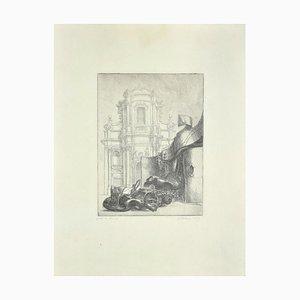 Riccardo Tommasi Ferroni - Baroque Rome - Original Radierung von Riccardo Tommasi Ferroni - 1965