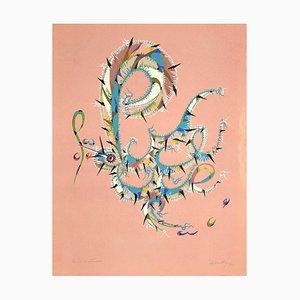 Rafael Alberti - Letter P - Original Lithograph by Rafael Alberti - 1972