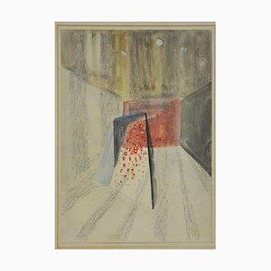 Fausto Melotti - Untitled - Aquarelle Originale par F. Melotti - 1975