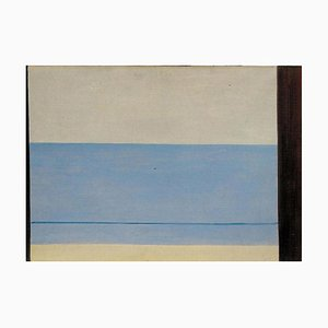 Virgilio Guidi - Marina Metaphysics - Original Oil On Canvas by Virgilio Guidi - 1950