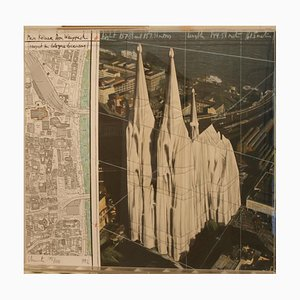 Christo and Jeanne-claude - Mein Koelner Dom - Original Mixed Media by Christo - 1992
