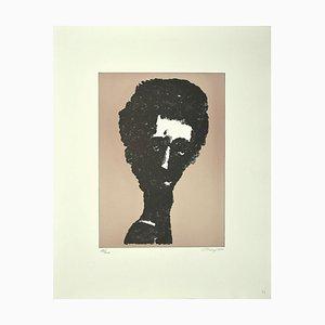 Litografia originale di Mark Tobey - Ritratto - Litografia originale di Mark Tobey - 1970