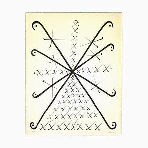 Rafael Alberti - Letter X - Original Lithograph by Rafael Alberti - 1972