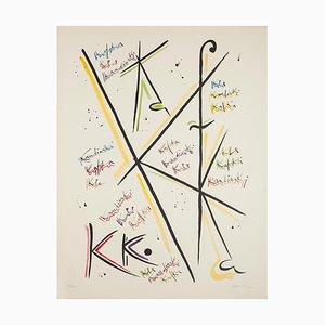 Rafael Alberti - Buchstabe K - Original Lithographie von Rafael Alberti - 1972
