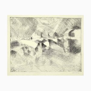 Dansac - Composition - Original Etching On Paper by Dansac - Mid-20th Century