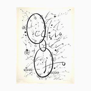 Rafael Alberti - Letter O - Original Lithograph by Rafael Alberti - 1972