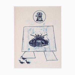 Max Ernst - Dance of Soldiers - Original Lithographie von Max Ernst - 1972