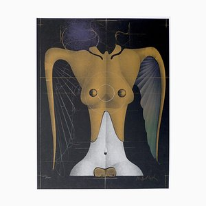 Paul Wunderlich - Flying Woman - Original Lithograph by P. Wunderlich - 1977