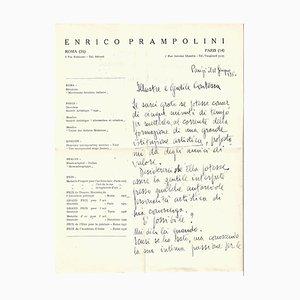 Enrico Prampolini - Autogrammbuchstabe von E. Prampolini - 1930er