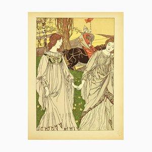 Robert English - Le Passant - Original Lithographie von R. English - 1898