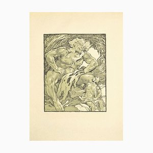 Ferdinand Bac - the Giant - Original Lithograph by Ferdinand Bac - 1922
