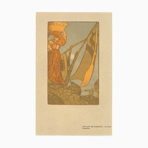 Adolfo Karol - La Sera - Original Holzschnitt auf Papier von Adolfo Karol - 1906