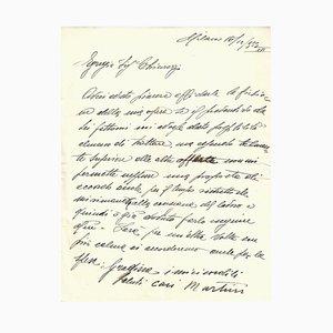 Arturo Martini - Autogrammbuchstabe von Arturo Martini - 1930er