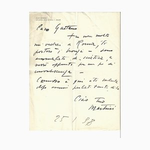 Arturo Martini - Sick of Sculpture - Autograph Letter by Arturo Martini - 1938