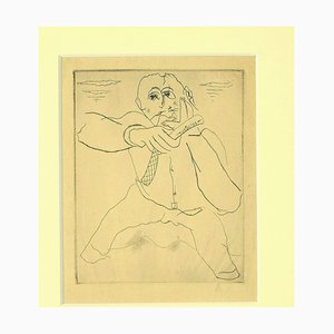 Mariette Lydis - the Barber - Original Etching and Drypoint - 1930s