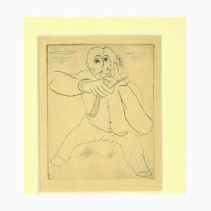 Mariette Lydis - the Barber - Original Radierung und Kaltnadelradierung - 1930er