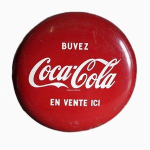 Große Französische Coca Cola Deckel Werbetafel
