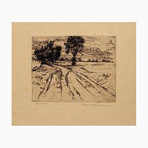 Unknown - Landscape - Original Etching 19th Century