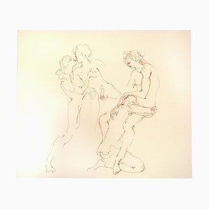Leonor Fini - the Couple - Original Lithograph On Cardboard by Leonor Fini - 20th Century