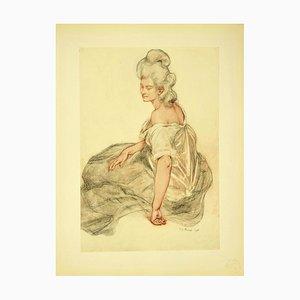 René Francois Xavier Prinet - Manon - Original Lithograph 1898
