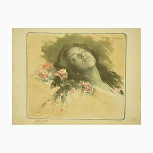 Lithographie Albert Emile Artigue - Bees - Original Lithograph - 1898