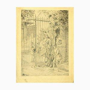 Albert Maria Roussel - Bettler - Original Fotolithografie auf cremigem Papier - 1910