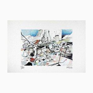Giuseppe Megna - the Bruiser - Lithograph On Paper by Megna - 1980