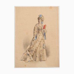 Unknown - Theatrical Costume - Original Lithograph - 1880