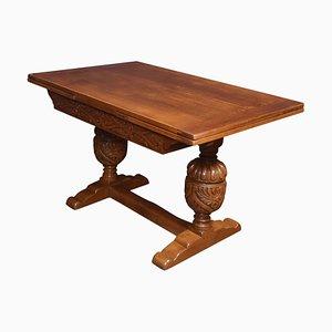 Dreiteiliger Speisesaal Tisch aus Eiche
