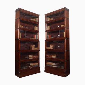 6-teilige Bücherregale aus Mahagoni von Globe Wernicke, 2er-Set