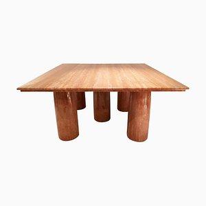 Table de Salle à Manger Il Colonnato en Marbre par Mario Bellini pour Cassina, 1970s
