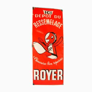 French Enameled Metal Royer Billboard