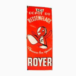 Panneau Publicitaire Royer en Métal Emaillé, France