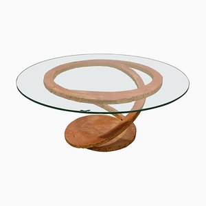 Steel Coffee Table by Maurice Barilone for Roche Bobois, 1980s