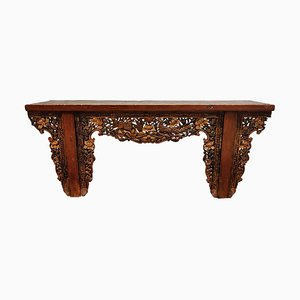 19th Century Chinese Style Carved Altar Table